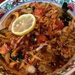 豚肉と葱の辛味麺