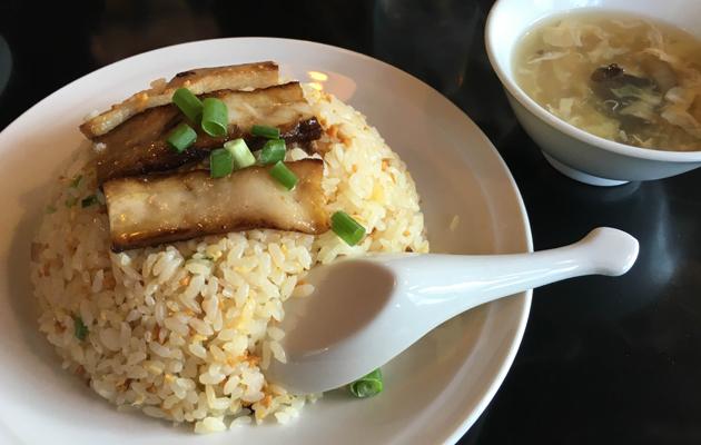 鉄龍山豚バラガーリック炒飯