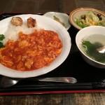 エビチリ玉子丼セット