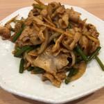 ニンニクの芽と肉の辛し炒め(850)