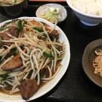 レバニラ定食(850)
