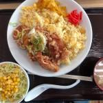 油淋鶏チャーハンセット(740円)