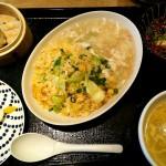 蟹あんかけ焼飯御膳(1100円)