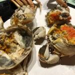 上海蟹の姿蒸し(中3500円)